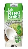 Кокосовый напиток (микс кокосовая вода + кокосовое молоко) King Island, 250 мл