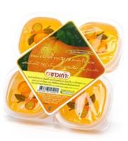 Конжаковое желе с яблочным соком и кусочками кокосового желе (со вкусом апельсина) CHAOKOH, 115 г х 4 шт