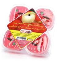 Конжаковое желе с яблочным соком и кусочками кокосового желе (со вкусом личи) CHAOKOH, 115 г х 4 шт