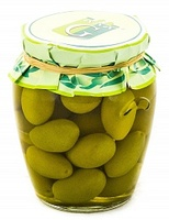 Оливки гигантские Белла Чериньола Galantino в стеклянной банке, 330 г