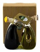 Набор Интреччио (оливковое масло Extra Virgin и бальзамический уксус из Модены), Sant'Agata d'Oneglia, 100 мл + 100 мл