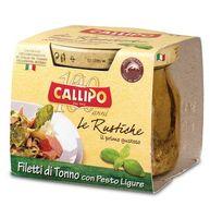 Филе тунца Callipo с соусом Песто Лигуре в стеклянной банке, 190 г