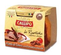 Филе тунца Callipo с сушеными помидорчиками в стеклянной банке, 190 г