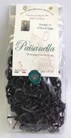 Макаронные изделия ручной работы Стрингетти с чернилами каракатицы Paisanella, 250 г