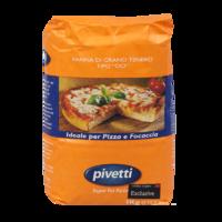 Мука пшеничная из мягких сортов типа 00 для пиццы/фокаччи Molini Pivetti, 1 кг