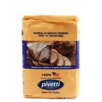 Мука пшеничная из мягких сортов типа 0 Манитоба Molini Pivetti, 1 кг