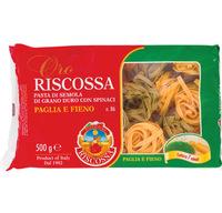 Макаронные изделия двухцветные со шпинатом Палья е Фьено №86 Riscossa, 500 г