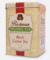 Черный цейлонский органический среднелистовой чай Orange Pekoe Richman в жестяной банке,100 г