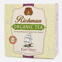 Черный цейлонский органический крупнолистовой чай с ароматом бергамота Richman, 20 пакетиков