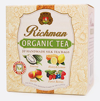 Черный цейлонский органический среднелистовой чай с ароматом манго, лесных ягод, соусепа, мёда и лимона Richman, 20 пакетиков